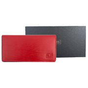 Female leather wallet red